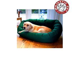"Majestic Pet Large 40"" Bagel Dog Bed (40""x31""x12"")  GREEN"