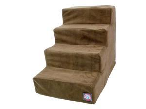 Majestic Pet 4 Step Chocolate Suede Pet Stairs - 78899567510
