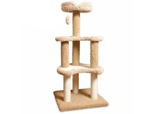 "50"" Carpeted Sherpa Moon Cat Tree By Majestic Pet Products"