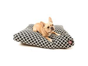 Black Bamboo Small Rectangle Pet Bed