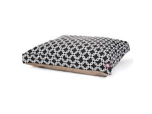 Black Links Medium Rectangle Pet Bed