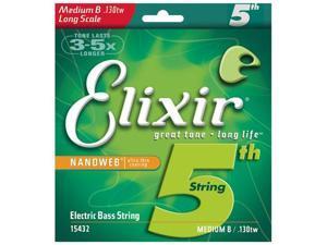 Elixir Nanoweb Bass Medium/Long Scale B string for 5 and 6 string .130tw