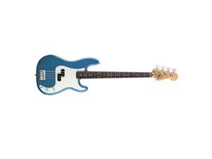 Fender Standard Precision Bass Guitar Rosewood Neck Lake Placid Blue NEW