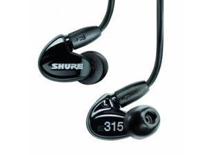 Shure SE315 Earphones w/ High-Definition MicroDriver & Tuned Bass Port, Black