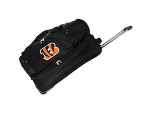 Denco Sports Luggage NFL Cincinnati Bengals 27in. Drop Bottom Wheeled Duffel Bag