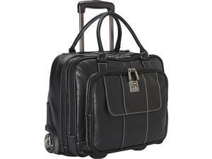 Kenneth Cole Reaction It's Wheel-y Late Rolling Laptop Case Bag - Black