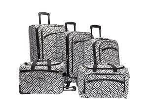 American Flyer Brick Wall Collection 5 Piece Spinner Luggage Set