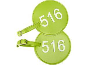 pb travel Leather Number Luggage Tag 516 - Set of 2