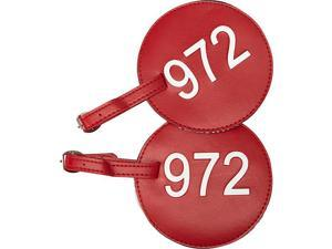pb travel Leather Number Luggage Tag 972 - Set of 2