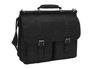 Kenneth Cole Reaction Mind Your Own Business Columbian Leather Dowel Rod Laptop Case - Black