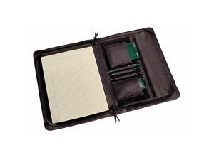 Royce Leather Executive Zip Around Padfolio