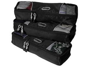 eBags Slim Packing Cubes - 3pc Set - Black