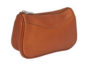 Piel Leather Carry-All Zip Pouch, Saddle - 2845