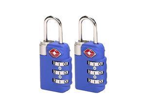 Lewis N. Clark TSA 3-dial Combo Lock/2 pack