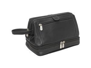 Piel Leather U Frame Utility Kit W/ Zip Bottom, Black - 2288-BLK