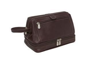 Piel Leather U Frame Utility Kit W/ Zip Bottom, Chocolate - 2288-CHC