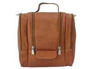 Piel Leather Hanging Travel Toiletry Kit, Saddle - 2460