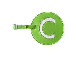 pb travel Leather Initial 'C' Luggage Tag Set of 2