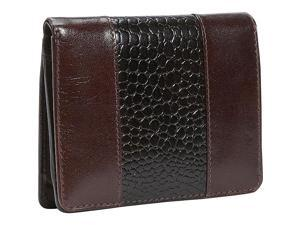 Leatherbay Leather Wallet w/Croc Accents