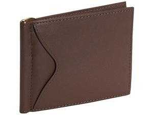 Royce Leather Men's Cash Clip Wallet With Outside Pocket, Coco - 108-COCO-5