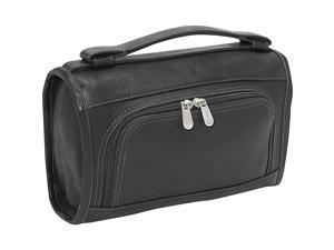 Piel Leather Half-Moon Utility Kit, Black - 9138-BLK