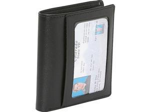 Royce Leather Men's Double ID Bi Fold Wallet, Black - 100-BLK-6