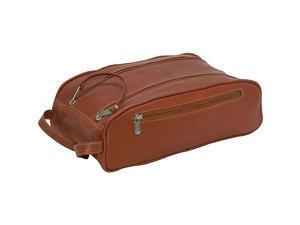 Piel Double Compartment Travel Bag