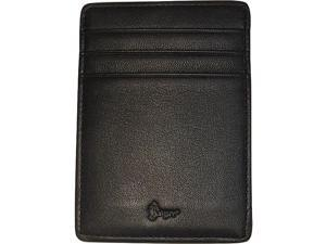 Royce Leather Nappa Prima Magnetic Money Clip Wallet, Black - 814-BLK-5