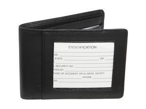 Emporium Leather RFID-007-BLK-5 Royce Leather Rfid Blocking Double Id Flat Fold Wallet - Black