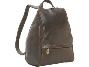 Le Donne Leather Distressed Leather U-Zip Womens Backpack