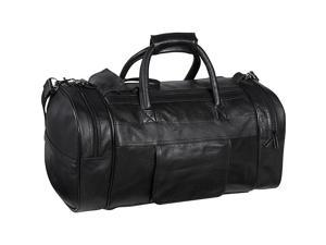 AmeriLeather Leather Dual Zippered Duffel