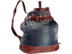 AmeriLeather Damian Ripped Leather Handbag/Backpack