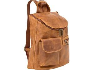 Le Donne Leather Distressed Leather Womens Backpack/Purse