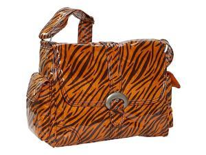 Kalencom Tiger Fur Laminated Buckle Bag