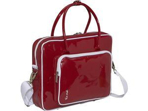 Ice Red Shine 2 Compact Glossy Laptop Tote