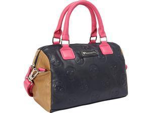 Loungefly Skull Emboss Colorblock Navy/Pink/Tan Bag