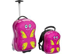 TrendyKid Bella Butterfly Upright Carry-On and Backpack