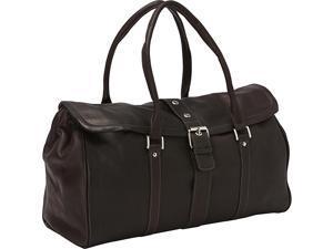 Piel Buckle Flap-Over Duffel Bag
