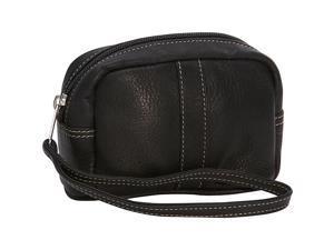 Piel Leather Cosmetic Case, Black - 2590-BLK
