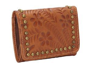 American West Shane Collection Ladies' Tri-fold French Wallet
