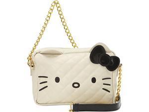Loungefly Hello Kitty Cream/Black Face W/Chain X-Body Bag