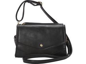 Ashley M Fashion Double Flap Leather Shoulder Bag
