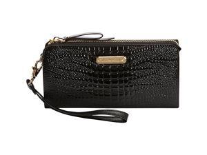 Leatherbay Croco Accordion Style Clutch