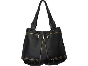AmeriLeather Rila Top-Zip Leather Tote