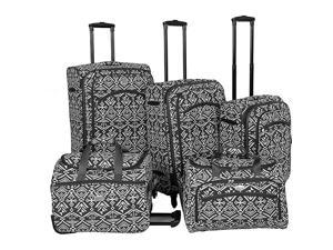 American Flyer Aztec Spinner Luggage Set 5pc
