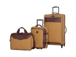 IT Luggage Calico-Lite Natural Cotton 3-Piece Luggage Set