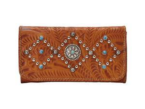 American West Canyon Creek Ladies Tri-fold Wallet