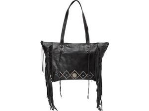 American West Canyon Creek Zip-top Fringe Tote