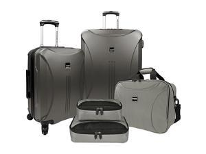 U.S. Traveler Skyscraper 5-Piece Hardside Spinner Luggage Set