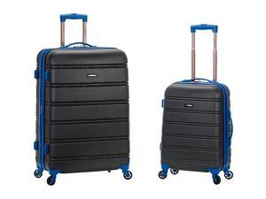 Rockland Luggage Melbourne 2 Pc Expandable ABS Spinner Luggage Set